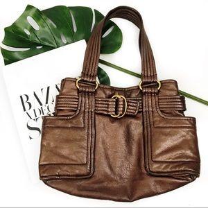 Kooba bronze copper leather hobo bag
